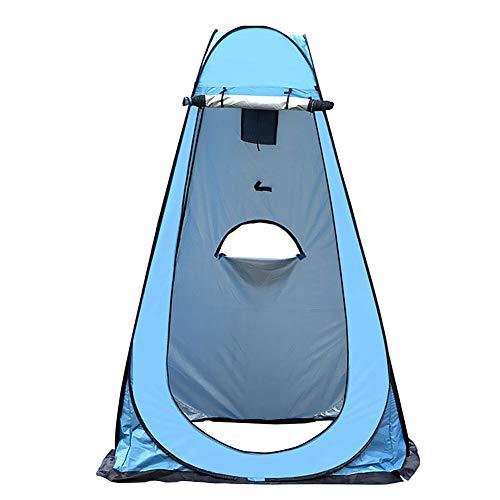 Tienda de campaña desplegable para baño, portátil, para camping, ducha, baño, vestidor, tienda de almacenamiento, para pesca, playa, camping, exterior y vacaciones, 120 x 120 x 190 cm (azul)