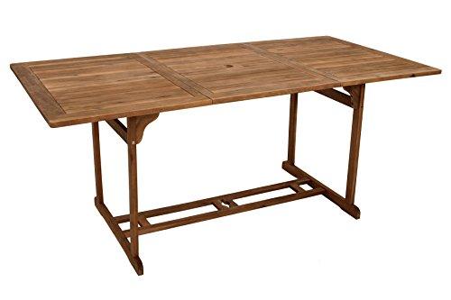 Gartentisch KORFU 90x180cm rechteckig, Akazie geölt