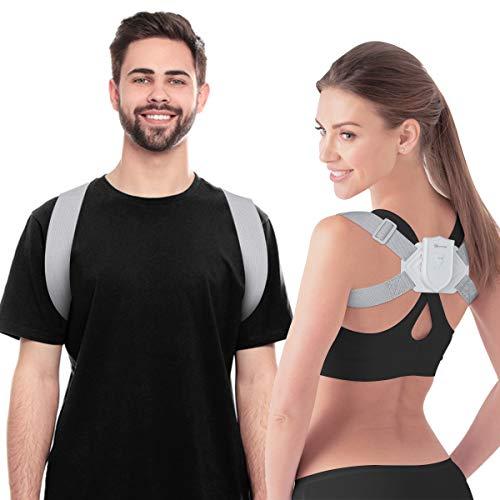 EIVOTOR Posture Corrector Trainer for Kids Women Men, Intelligent Sensor Vibration Reminder 【Upgraded】 Electronic Smart Humpback Straightener for Neck, Back and Shoulder Pain Relief