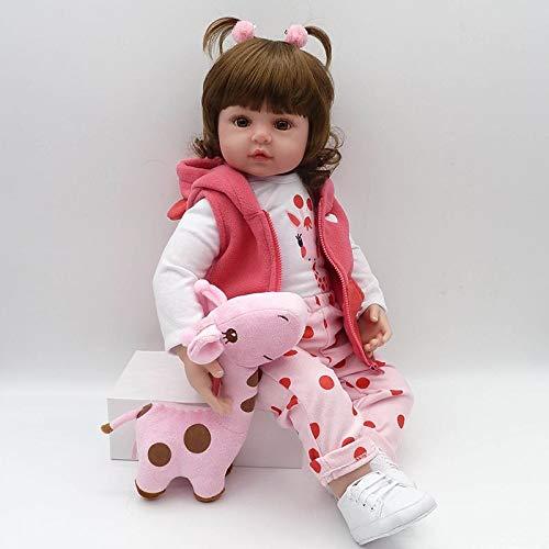 Nicery Reborn Baby Doll Puppe Weich Simulation Silikon Vinyl 22 Zoll 55 cm Magnetisch Mund lebensecht lebhaft für 3 Jahre alt 3+ Vivid Boy Girl Junge Mädchen Spielzeug SH55C258W-2