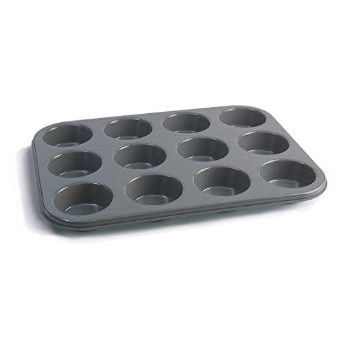 Jamie Oliver JB1060 Moule à muffins antiadhésif 12 pcs, Acier, Bleu