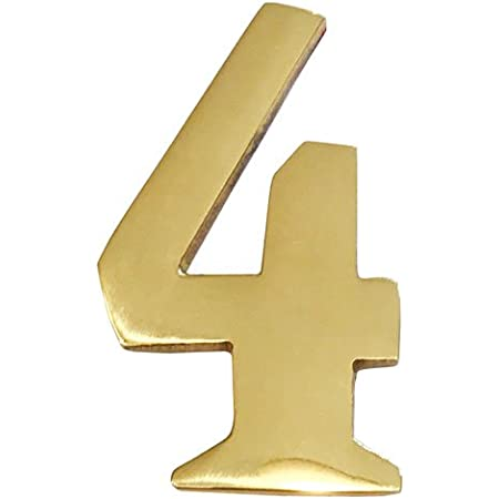 Won/'t Tarnish Williamsburg Font Self Adhesive Floating #5 Numbering for Address Plaque Home Business Addresses of Distinction 2-Inch Brass Mailbox Number 5 Front Door Weather Resistant