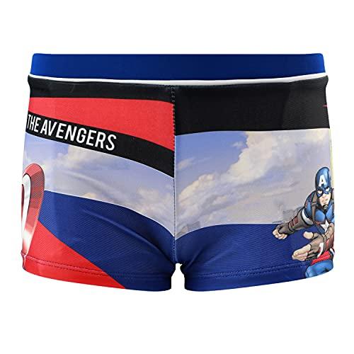 Characters Cartoons Marvel Avengers - Bambino - Costume da Bagno Pantaloncino Boxer Slip Parigamba Mare Piscina - Primavera Estate - Licenza Ufficiale [1894 Blu - 4 Anni]
