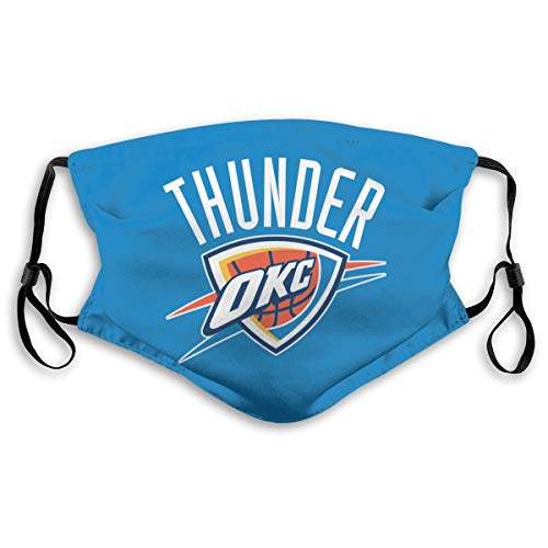 VF Oklahoma City Thunder Dustproof Breathableouth Cover with Filter Double Protection Adults