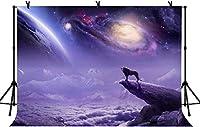 新しい5x3ftライオン写真の背景BirtNEWayパーティー紫の風景の背景男の子の部屋の装飾バナー写真スタジオの小道具22
