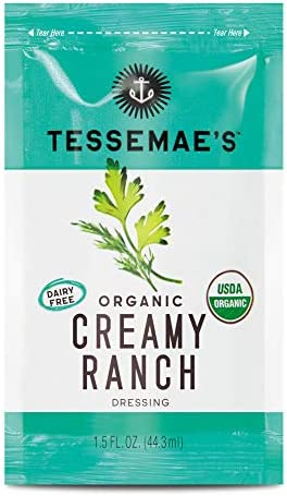 Tessemae s Organic Creamy Ranch Dressing Single Serve Packets Whole30 Certified Keto Friendly product image