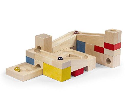 VARIS toys MR Marmor Run 33 Teile Konstruktionsset, Mehrfarbig, Einheitsgröße