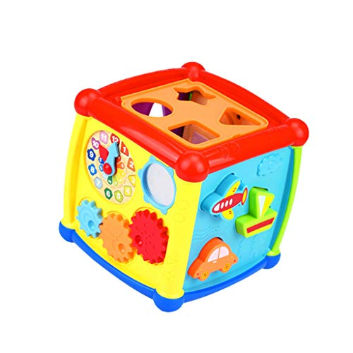 Price comparison product image Baby Blocks Shape Sorter Toy - Childrens Blocks Music Matching Puzzle - Color Recognition Shape Toys - My First Baby Toys - Toys Gift for Boys & Girls
