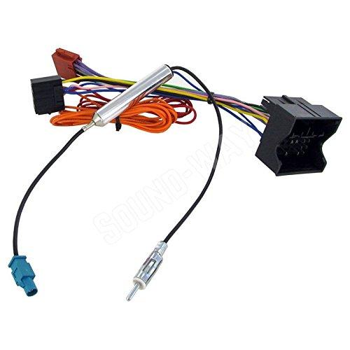 Sound-way Adapterkabel ISO Autoradio compatibel met Opel AGILA, Antara, Astra H
