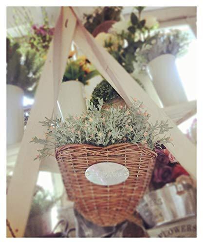 WJCRYPD Pastoral Creativo Casa Mobiliario Muebles Accesorios Colgante Flower Pot Chlorophytum En Forma De Mimbre Cesta De Mimbre Personalizada Cesta De Almacenamiento Qf Shop