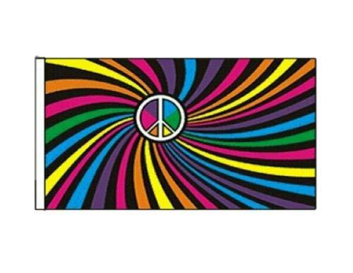 FlagSuperstore© Regenbogen Swirl Bootsflagge 45 x 30 cm – Baumhäuser, Wohnwagen – Ärmel 45 cm x 30 cm – Gay Pride LGBTQ