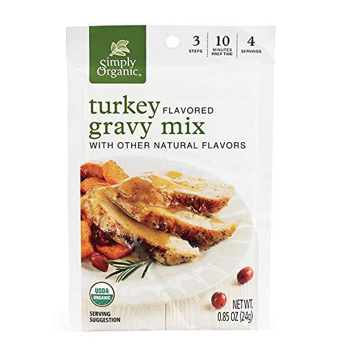 Simply Organic Roasted Turkey Flavored Gravy Mix, Certified Organic, Gluten-Free | 0.85 oz