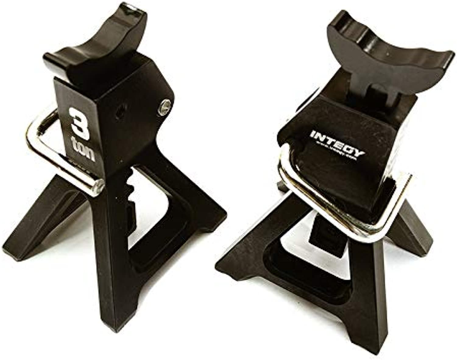 Integy RC Model Hop-ups C26410BLACK Realistic Model 3 Ton Jack Stands (2) for 1 10, 1 8 Scale & Rock Crawler
