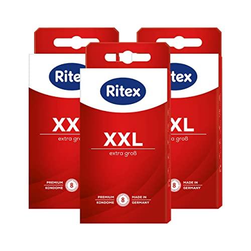 Ritex XXL Kondome - extra gross mit mehr Platz für besonders Größen Made in Germany, 24 Stück