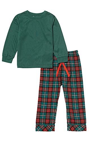 PajamaGram Toddler Christmas Pajamas Flannel - Kids Christmas Pajamas, Red, 3T