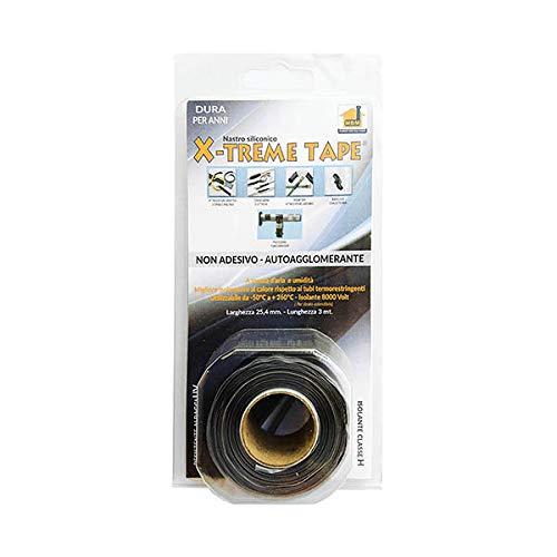 MOCAP Ultratape Extreme Tape Silicone Nastro No Adesivi Auto SALDANTE 25,4 mm x 3m Nero
