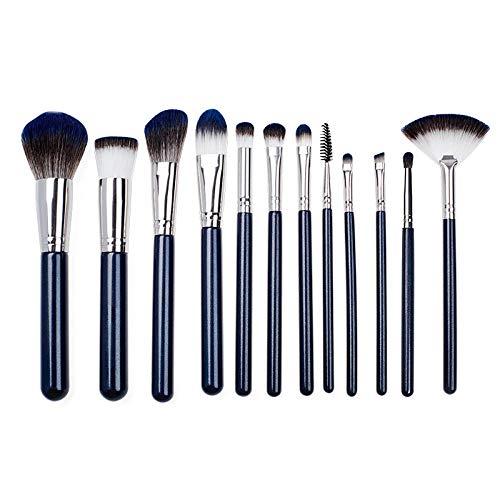 Pinceaux Maquillage Cosmétique Professionnel Brush Beauté Brosse Makeup Brushes Fondation 11 pièces bleues