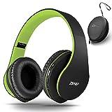 Bluetooth Over Ear Kopfhörer, Zihnic Wireless Faltbares Stereo Headset, Kabelloser Schalldämmung Kopfhörer mit Eingebautem MikrofonMicro SD/TF FM, On Ear Headphones für Phones/Pads/PC-