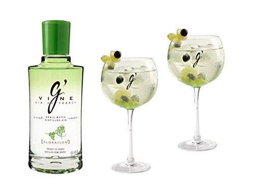G-Vine Floraison Glas Set 40% Gin 0,7l Flasche