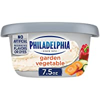 One 7.5 oz. tub of Philadelphia Garden Vegetable Cream Cheese Spread Our veggie cream cheese spread is made with fresh milk and real cream Enjoy a cream cheese spread made with real garden vegetables No artificial preservatives, flavors or dyes Made ...