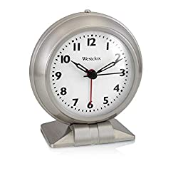 Westclox Classic Analog Alarm Clock | Retro Style Old Fashioned Alarm Clock for Heavy Sleepers | Battery Operated, Perfect for Bedside Table, Kitchen, Study Desk, Office