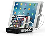 Techsmarter 79W 5-Port USB C PD Desktop Charging Station with 45W USB C Port & 18W Fast Charging USB Port. Compatible with iPhone, iPad, MacBook, Samsung, LG, Chromebook, Android and More