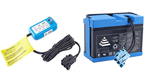 JONATURE 12V 8AH Replacement Battery and Charger Combo Kit for Peg Perego Ground Force Tractor Ground Loader Construction Loader Dual Force Ducati GP Hypercross Children Ride On Car