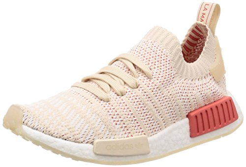 adidas NMD_r1 Stlt Primeknit, Scarpe da Ginnastica Basse Donna, Beige (Linen/Crystal White/Footwear White 0), 37 1/3 EU