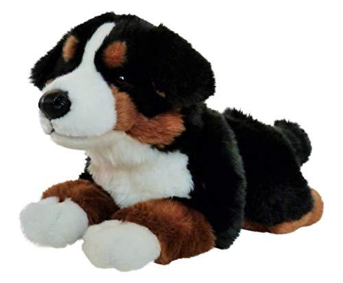 Uni-Toys Berner Sennenhund Kuscheltier aus Plüsch, liegend, schwarz braun weiß, ca. 40 cm