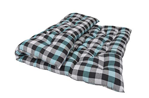 SUGANDHA Large Soft Cotton Multicolour Mattress (2 Sleeping Capacity)_72X48X4-Inch