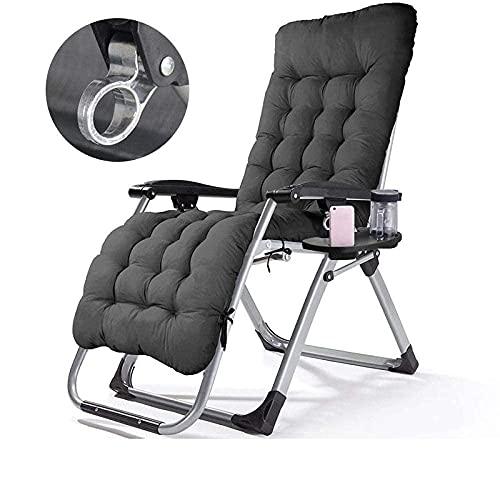 FHISD Tumbona multiposición, reclinable de jardín de color puro, reclinable portátil de gravedad cero, tumbona plegable y silla de camping