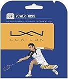 Wilson Luxilon Spin Force Cordaje de bádminton, 10 Metros, Unisex, Dorado Grosor 0,67 mm