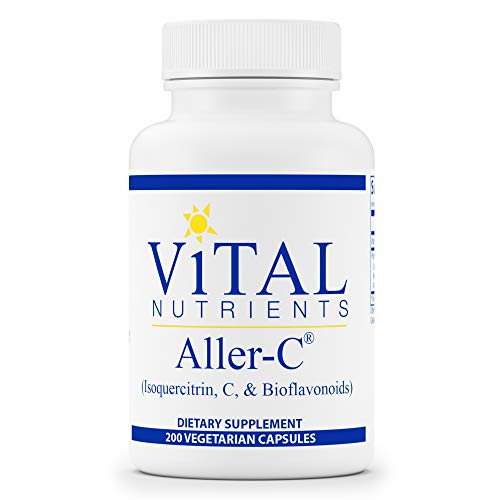 Vital Nutrients - Aller-C (Isoquercitrin, C, and Bioflavonoids) - Respiratory and Sinus Support - 200 Vegetarian Capsules per Bottle