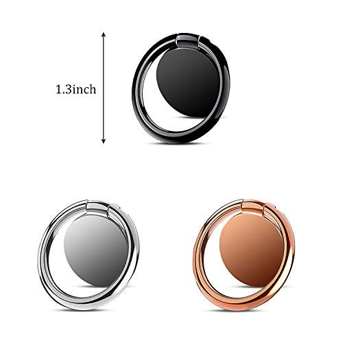 Samsung S10 S9 S8 S7 Huawei p30 P20 Xiaomi 3 Unidades Smartphone HTFY Anillo Soporte M/óvil Tel/éfono 360/°Rotaci/ón Soporte Magn/ético para Salpicadero del Coche para iPhone XS XS MAX XR X 8 7