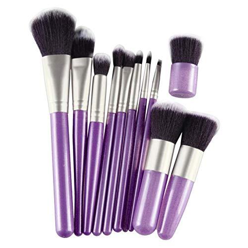 MEIYY Pinceau de maquillage 11Pcs Cosmetic Makeup Brush Sets Powder Lip Face Brushes Contour Concealer Fiber Beauty 3 Colors
