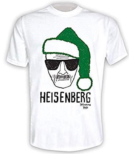 cappello heisenberg Breaking Bad - Heisenberg Babbo Natale Cappello Natale 2 - T-Shirt Ufficiale Uomo - Bianco