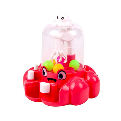 Toyvian Mini Claw Machine Kids Mini Arcade Grabber Toy Candy Dispenser Crane Toy Great Gift for Kids Children Toddlers Birthday Party Supplies