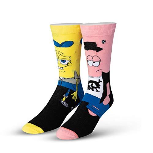 ODD SOX Men's Spongebob Squarepants Hipsters Socks