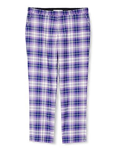 IJP Design, Pantaloni Uomo Poulter, Motivo: Tartan, Viola (Purple), 28-30