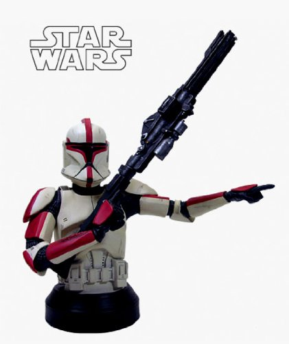 Star Wars: Clone Trooper Captain (Red) Deluxe Mini-Bust image