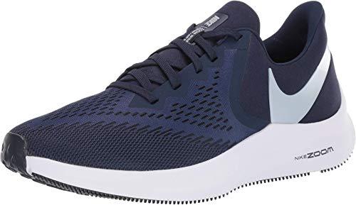 Nike Zoom Winflo 6, Zapatillas de Atletismo Hombre, Multicolor (Midnight Navy/Pure Platinum 401), 40.5 EU