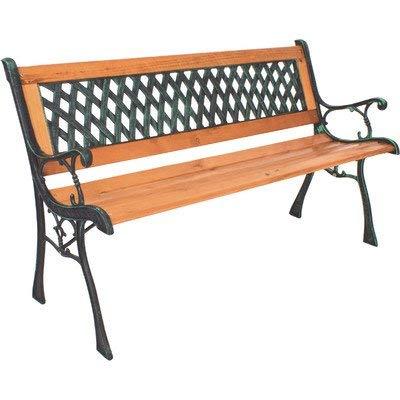 Banc de jardin Windsor en métal et bois dur en métal, mélange de bois dur et dossier en PVC Finition revêtue par poudre Capacité: jusqu'à 280 kg