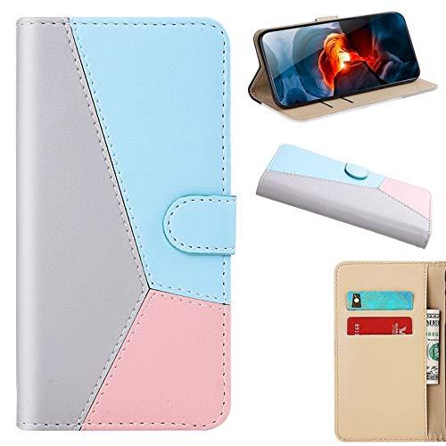 MAXJCN Caso para Xiaomi Redmi Note 7 Pro, Funda de Billetera de Flip magnética de Cuero de PU de Color sólido con Ranuras y Soporte para Tarjetas (Color : Gray)