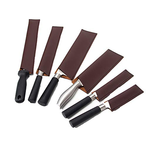 Cubiertas De Piel Para Cuchillos De Chef, Fundas Protectoras Para Cuchillos, *6 Bolsas Para Cuchillos, Cubiertas De Cuchillos De Cuero, CYGJB146