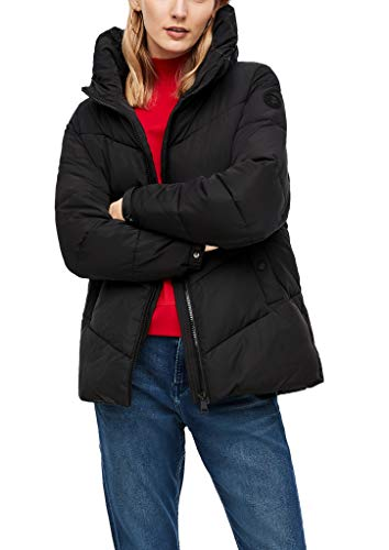 s.Oliver Damen Lockere Steppjacke mit Wattierung black 38
