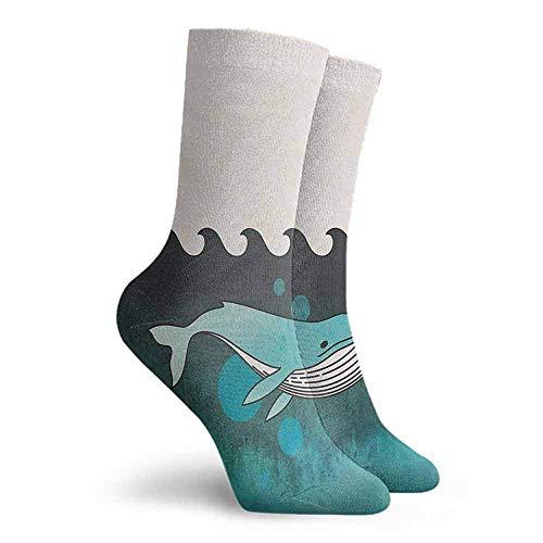 Yesbnow Whale Patterned Socks Unisex Men