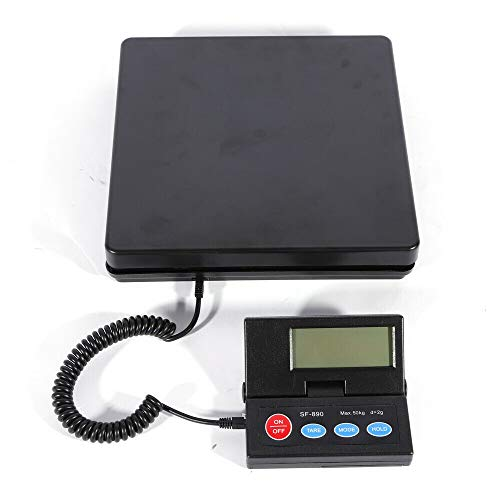 Paketwaage 50kg/2g,Robuste Plattformwaage/Briefwaage inkl,Netzteil,G&g Floor Platform Shipping LCD Display