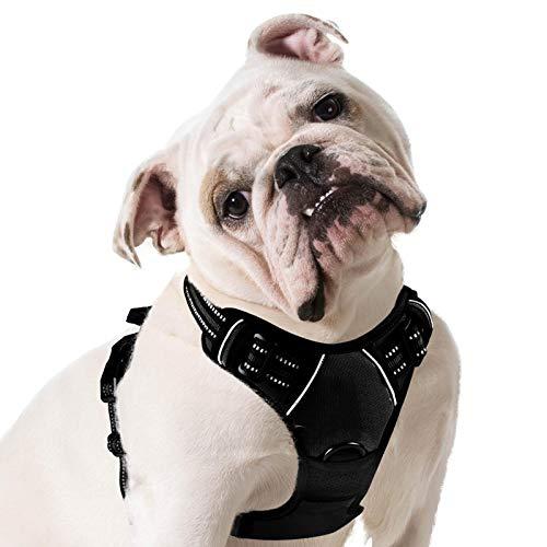 Eagloo Hundegeschirr Geschirr für Große Hunde Anti Zug Mittelgroße Brustgeschirr No Pull Sicherheitsgeschirr Auto Dog Harness Labrador Welpengeschirr Joggen...
