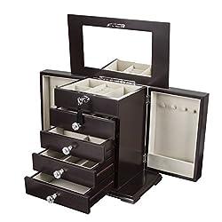 """Kendal Wooden Jewelry Box (115""""L x 55""""W x 55""""H) WJC-06DC"""