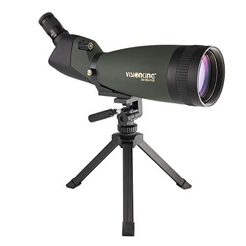 Visionking Longue-Vue 30-90 x 100 Spottingscope étanche Jumelles Télescope Principalement (Vert)